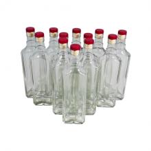 Комплект стеклянных бутылок «Сияние» с пробкой 0,5 л (12 шт.)