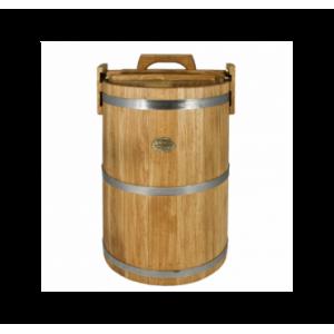 Кадка дубовая 100 л «Бонпос» (обручи из нерж. стали)