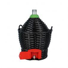 Бутыль в пластиковой корзине 34 л с краном в Балаково