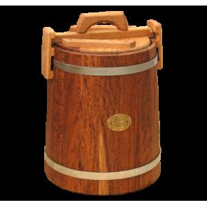 Кадка для засолки дубовая 15 л «бонпос» (обручи из нерж. стали)