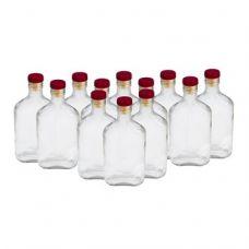 Купить Комплект стеклянных бутылок «Фляжка» 0,25 л (12 шт.) в Балаково