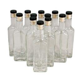 Комплект стеклянных бутылок «Ива» с пробкой 0,25 л (12 шт.)